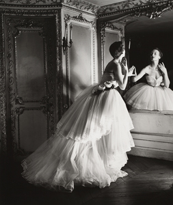 Model in Dior Ball Gown, Paris Photograph by Louise Dahl-Wolfe ©1989 Center for Creative Photography, Arizona Board of Regents