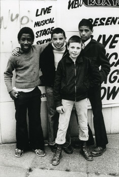 Our Future - multicultural punk fans outside The Roxy, London, 1978 ©Caroline Coon/Camera Press