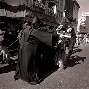 Via With the Grim Reaper, Mardi Gras, ©Meryl Meisler
