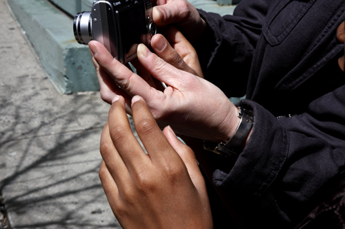Child Learning Photography at a PWP Mentoring Field Trip