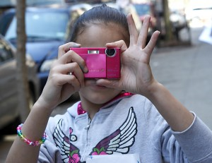 Child Learning Photography on a PWP Field Trip