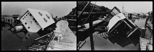 FFP Boat Sunk, August 1976, ©FFP