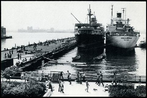 Pier 42 at Morton Street w/John Brown 1 & 2 June 1974 ©Darleen Rubin