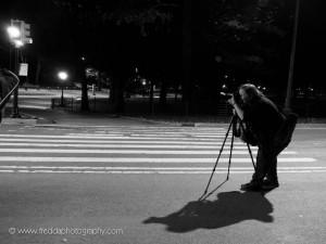 Debra Rothenberg leading a night shoot.