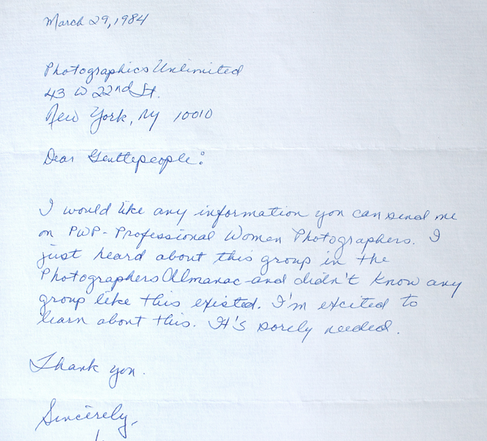 1984 Letter to PWP