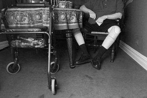 Lee Entwisle had both legs amputated due to Agent Orange exposure ©Leslie Granda-Hill
