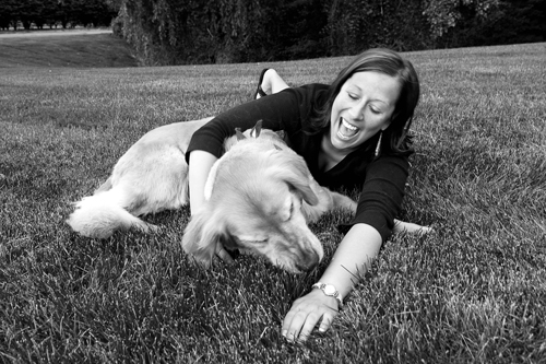 Kim and Toby in the Grass ©Leslie Granda-Hill