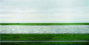 "Andreas Gursky, Rhine"""