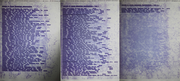 "Mimeographed roster for the 1975 FIT show ""Breadth of Vision"""