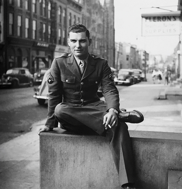 Image of a serviceman in book of post-war images by Josephine Herrick ©Josephine Herrick