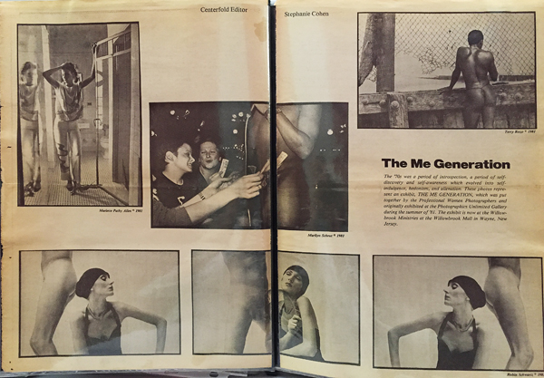 The Me Generation exhibit featured in a PWP publication (pages edited by Stephanie Cohen)