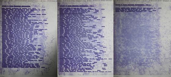 "Roster of the 1975 FIT ""Breadth of Vision"" Exhibition (PWP Archives, Emory University)"