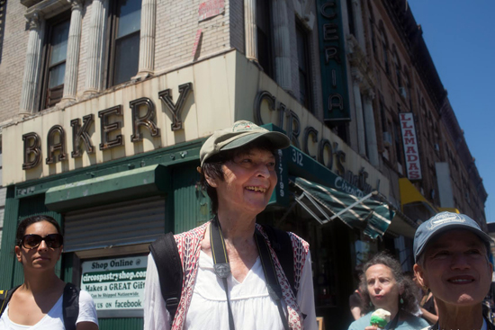 Ann Littlejohn on a PWP Photo Tour of Bushwick ©Meryl Meisler