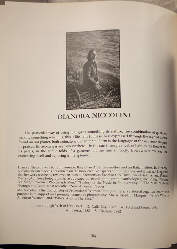 Dianora Niccolini in Women of Vision, photo ©Stephanie Cohen