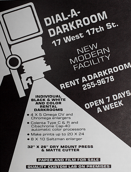 Ad for Dial-A-Darkroom in a PWP publication