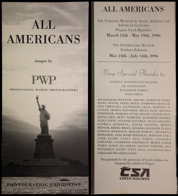 "Brochure for the 1996 PWP exhibit ""All Americans"""