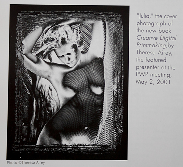 "PWP magazine with an image of the cover of Theresa Airey's book ""Creative Digital Printmaking"""