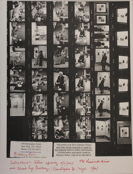 Contact sheet of photos of the show reception (all images ©Darleen Rubin)