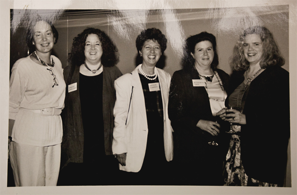 PWP members at Portfolio '97 (B. Koppelman, L. Cashman, K. Criss center) ©Joan Tedesci