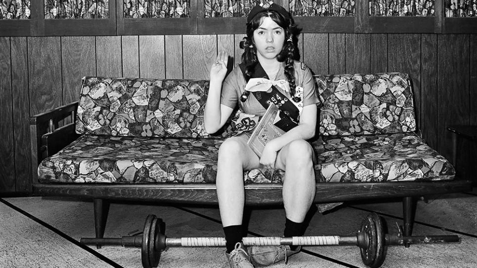 """""""Self Portrait, Girl Scout Oath 1975"""" (detail) Meryl Meisler courtesy of Steven Kasher Gallery"""