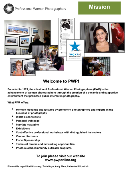 PWP At a Glance pdf from 2012