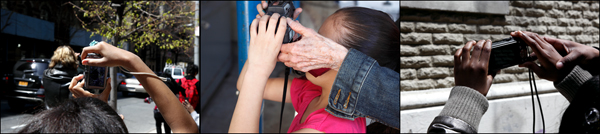 PWP Community Service photographers working with WIN children