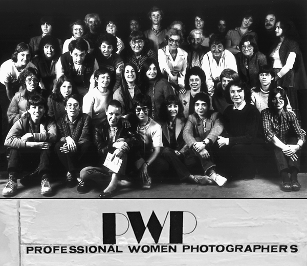 Early PWP group image (photographer unknown), with early newsletter masthead