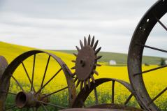 Landmark Wheel Fence in The Palouse